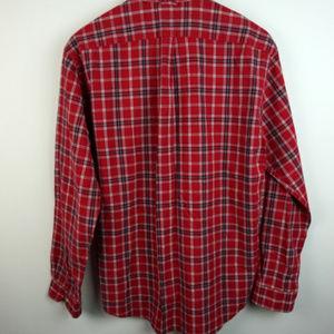 2961c173 Tommy Hilfiger Shirts - Tommy Long Sleeve Plaid Flag Logo Button Down XL